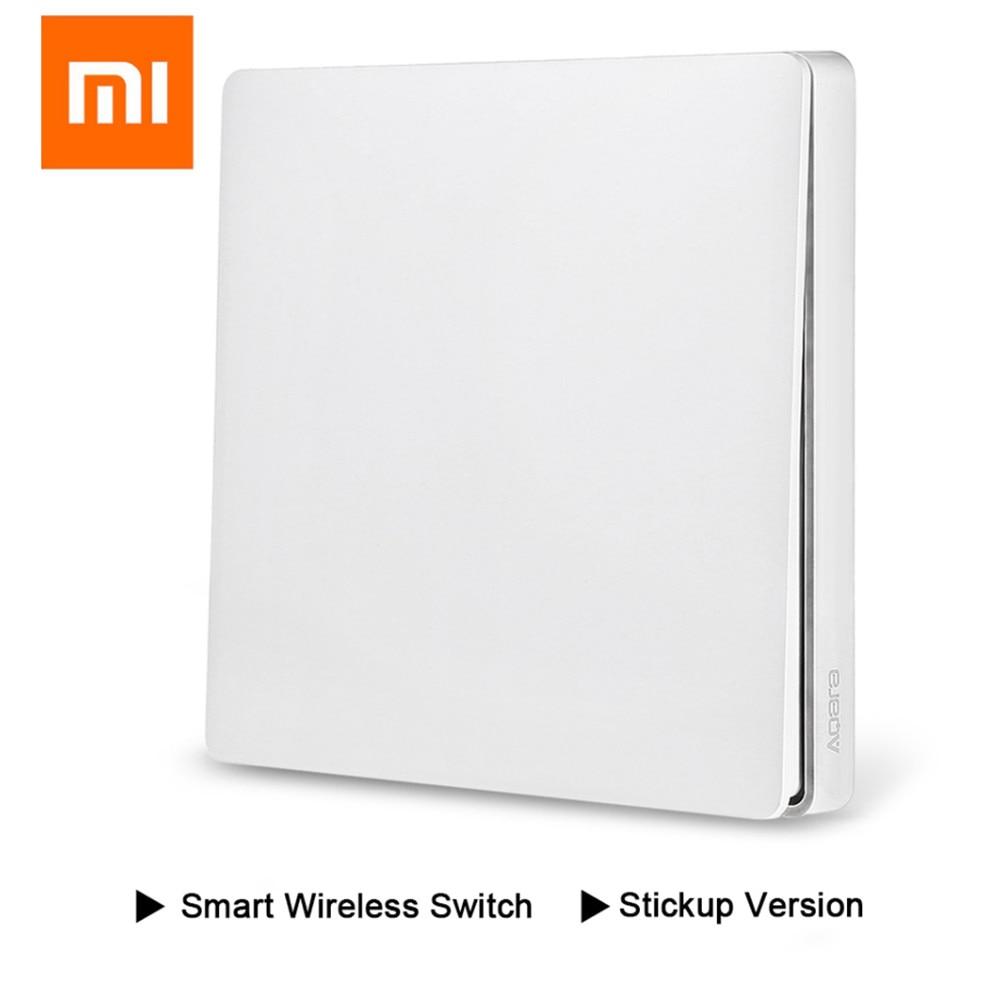 Original Xiaomi Aqara Smart Light Switch Wireless Key Version Singel/Double Button ZiGBee Wifi Smart Remote Control Switch