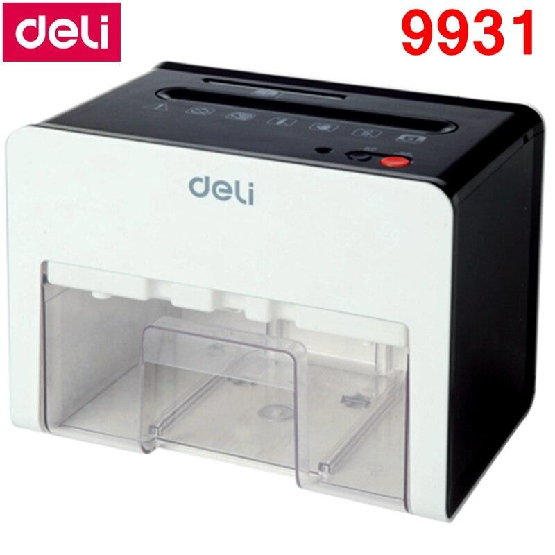 [ReadStar]Deli 9931 Mini Desktop Electric shredder 2.5L volume 220-230VAC/50Hz 3x10mm security 5 auto stop Paper shredder Cards