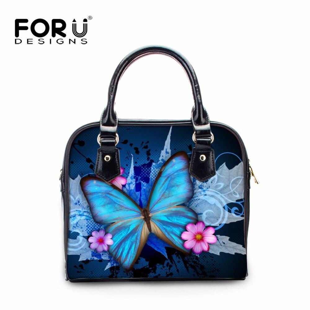 FORUDESIGNS Brand 3D Butterfly Women Handbag Feminine Bolsas Woman Messenger Bags Women PU Leather Handbags Cross-body Bag Mujer