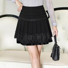 Women's clothing Short skirt Lace pleated skirt Big yards skirt