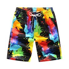 New swimming trunks surf shorts men Fast-drying Mens Color Shorts Swimming Beach Flower Surfboard