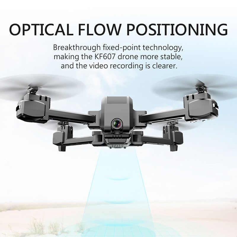 Image 2 - KF607 WIFI FPV RC Foldable Drone 4K Camera Ultra HD Dual Camera Drone Headless Mode One touch Landing Quadcopter Kids Gifts-in RC Helicopters from Toys & Hobbies
