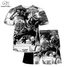 PLstar Cosmos Summer T Shirts Anime Printed My Hero Academia 3D T-Shirt and shorts Mens for boy Suit plus size XS-7XL MHA-3