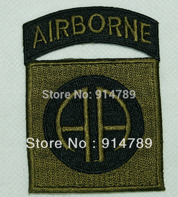 US MILITARY PATCH ARMY 82ND AIRBORNE DIV SUBDUED OD GREEN -32294