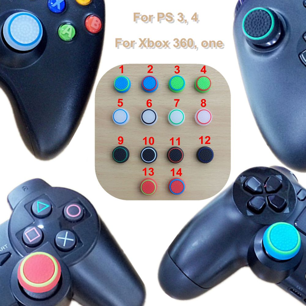 Case For Sony PS4 Controller Grip Cover Thumbstick For Playstation 4 ...