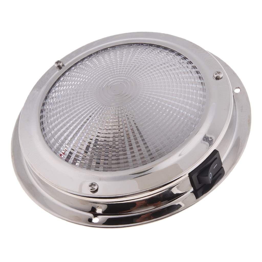 138mm Stainless Steel Marine Boat   Ceiling Cabin Dome Interior Light 12V