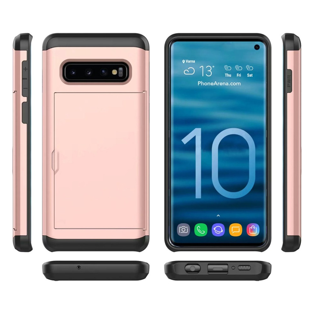 Case For Samsung Galaxy S10 Plus Covers With Card Pocket Luxury Phone Coque On Galaxys10 S10plus S10e S 10 E 10S Cover PC Fundas