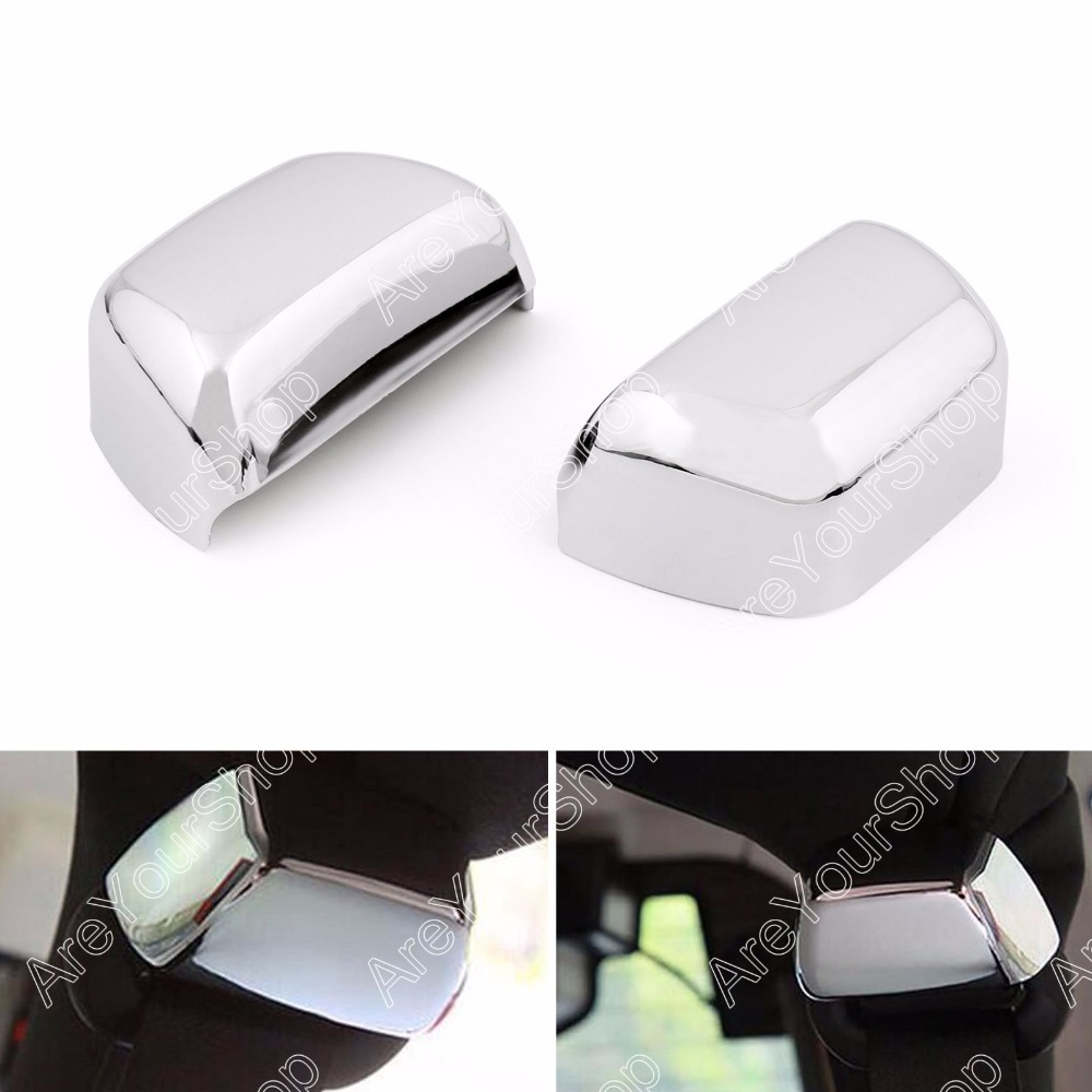 Areyourshop Car Rear Seat Side Safety Belt Cover Sticker For Jeep Wrangler 2007 2008 2009-2016 2Pcs   Car car styling top mount hardtop rear grab handle bar front rear interior parts metal for jeep wrangler 2007 later