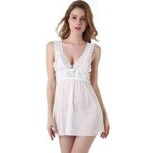99720d75f Mulheres Branco Sexy Perspectiva Lace Pijamas Lazer Home Wear Feminino  Desgaste Casa Roupas Pijamas Set Pijama Cinta