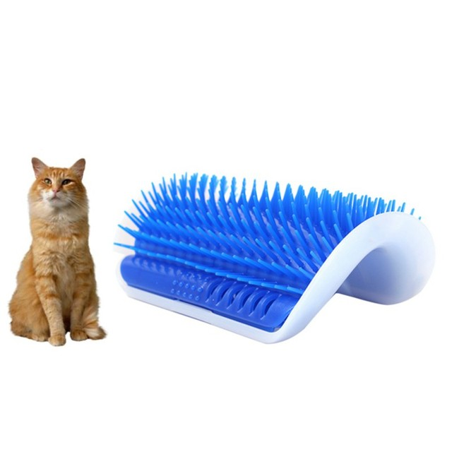 Pet Products Cats Supplies Cat Massage Device Self Groomer Catnip Pet Toy For Cat Brush Comb