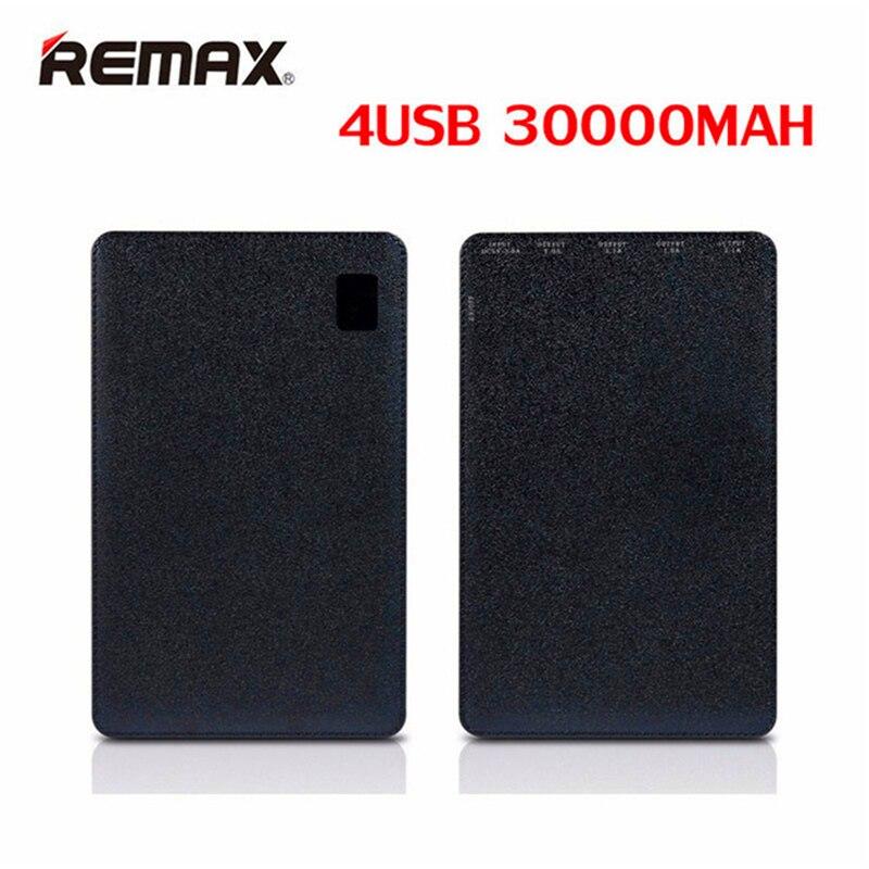 Original Remax 30000 mAh 4 USB Mobile batterie externe chargeur de batterie externe universel pour Huawei iPhone Samsung Xiaomi tablettes