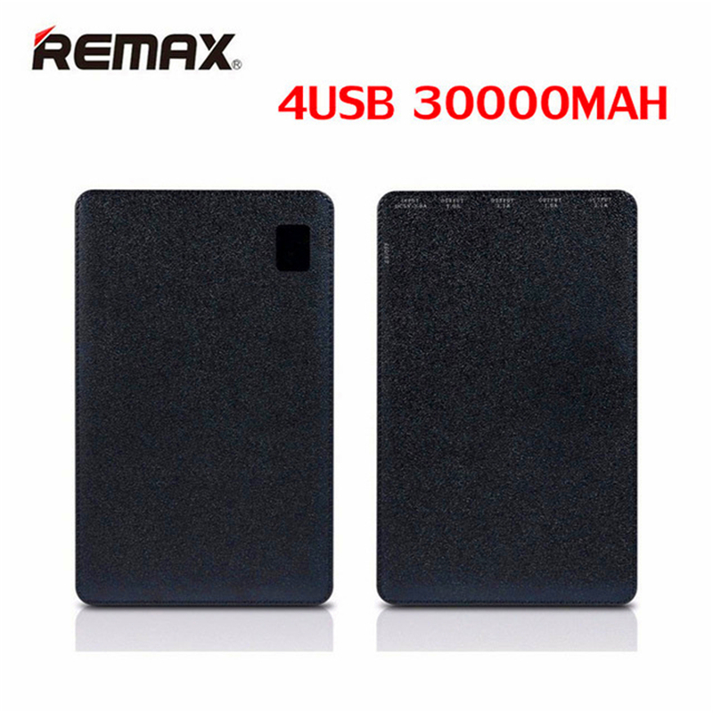 Original Remax 30000mAh 4 USB Mobile power bank External Battery Charger universal For Huawei iPhone Samsung Xiaomi Tablets