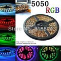 Led home decor /decorative Strip Waterproof 5M SMD 5050 300 LED/Roll +24Key+12V 6A Power supply RGB/White/Red/Green/Blue/Yellow