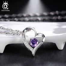 Heart Shape Silver Pendant Necklace