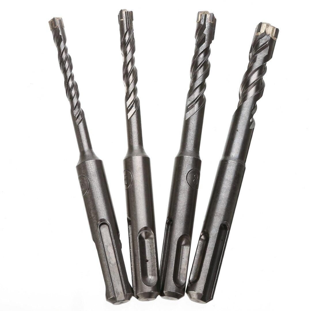 110mm 5/6/8/10 mm Twist Drill Bit Saw SDS Plus Masonry Crosshead Twin spiral Hammer Drill Bits For Woodworking Tool