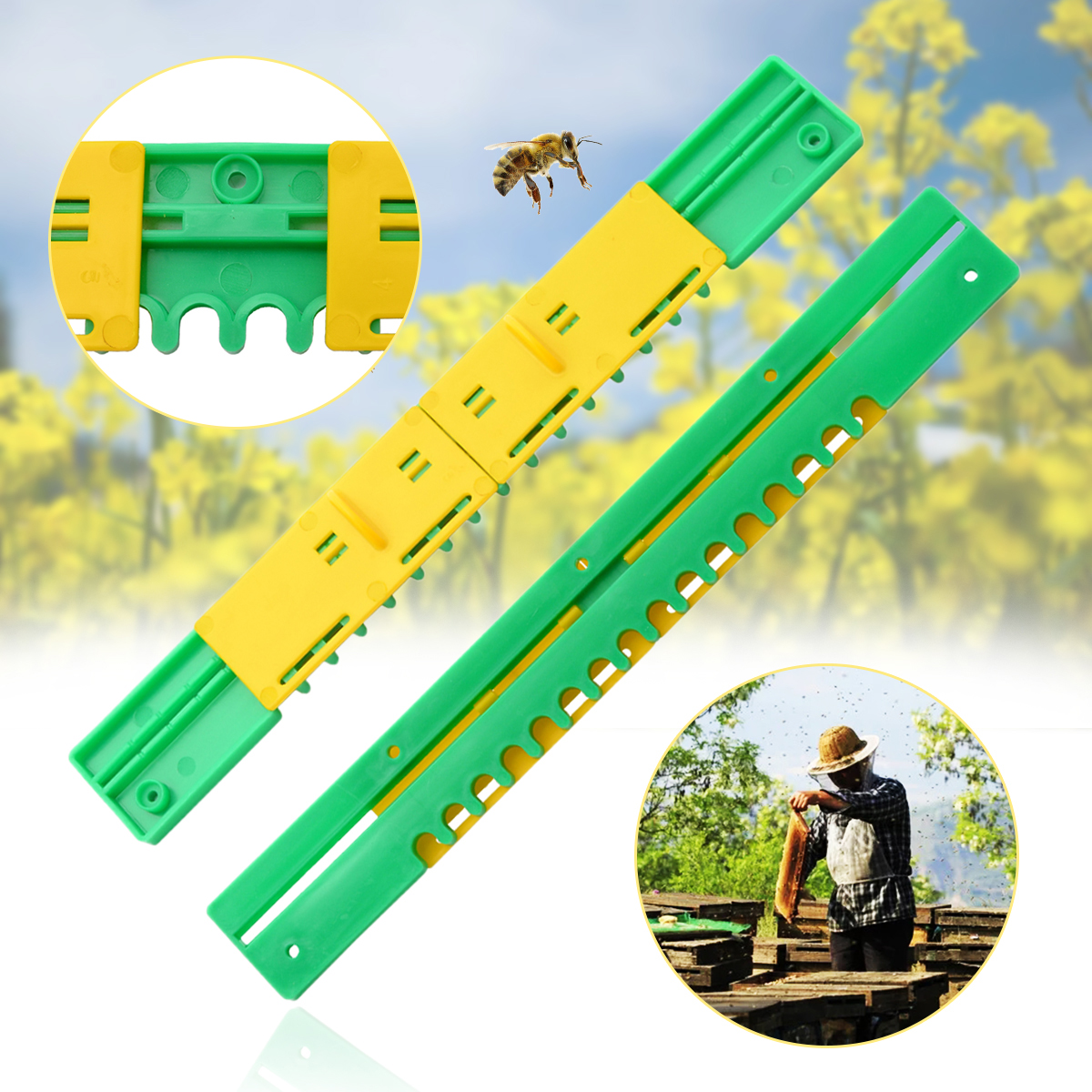 1pc New Plastic Bee Hive Sliding Mouse Guards/Travel Gate Equipment Beekeeping Tool Breeding Tool Beehive Durable