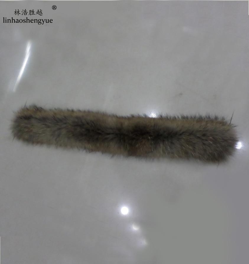 Linhaoshengyue 55cm Or  50cm Long Various Models Real  Raccoon Fur Collar