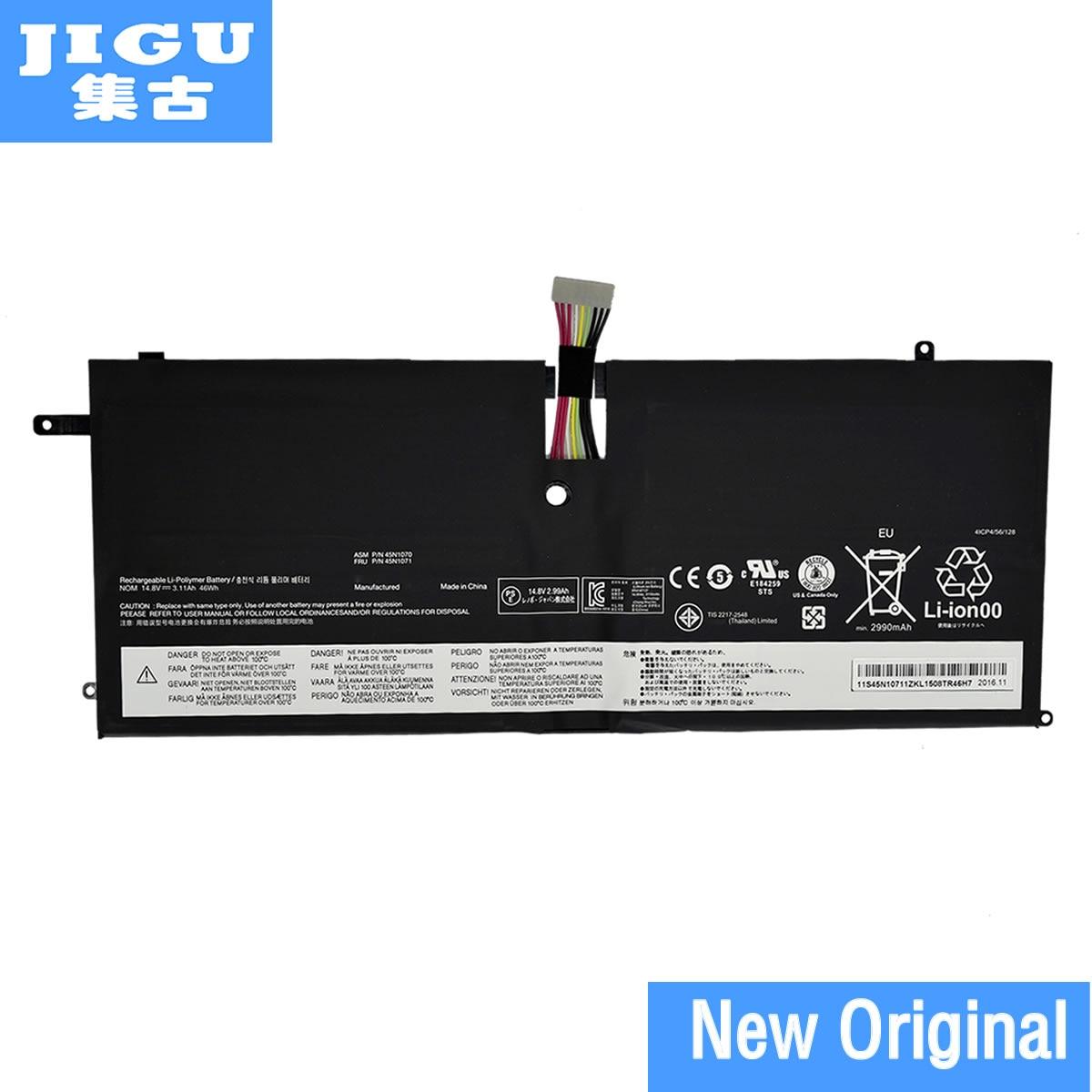 JIGU 45N1070 45N1071 4ICP4/51/95 Original Laptop Battery For Lenovo For ThinkPad New X1 Carbon X1C 14.8V 46WH jigu 45n1070 45n1071 4icp4 51 95 original laptop battery for lenovo thinkpad new x1 carbon x1c 14 8v 46wh