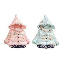 Зимняя одежда новое зимнее пальто для маленьких девочек Детская верхняя одежда Зимнее пальто с рисунком для маленьких девочек куртки для малышей Одежда для девочек