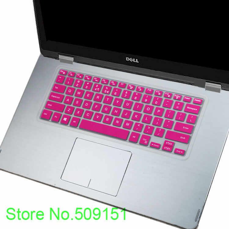 Cubierta de silicona de teclado del ordenador portátil piel para Dell Inspiron 14 3446, 3447, 3442, 5442 14C 14CR 14 3000 de la serie 5000