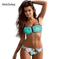 HolaSukey Bikini 2017 New Sexy Bandage Women Swimwear Lace Swimsuit Beach Low Waist Bikini Set Brazilian