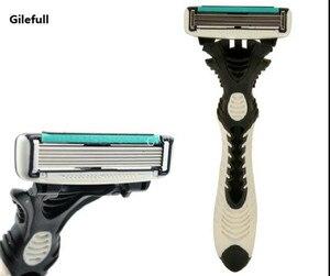 Image 1 - חדש Pro 8 יח\חבילה DORCO קצב 6 חד תער להבים לגברים מכונת גילוח סכיני גילוח Mens אישי חד פעמי גילוח גילוח להבים