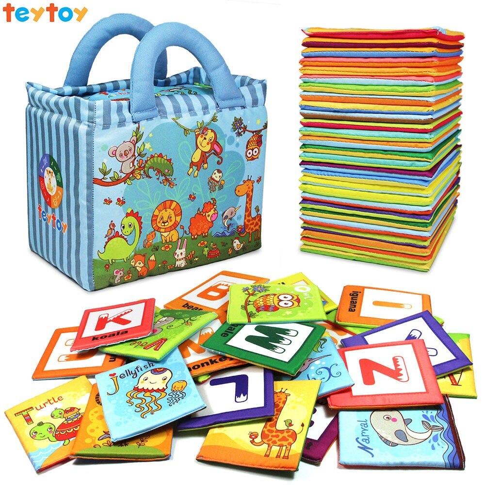 Teytoy bébé jouet série Zoo 26 pièces cartes Alphabet souple avec sac en tissu depuis plus de 0 ans