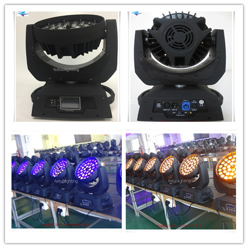 A Touch screen Hot sell 2PCS lot 6in1 zoom moving head led 36x18w wash