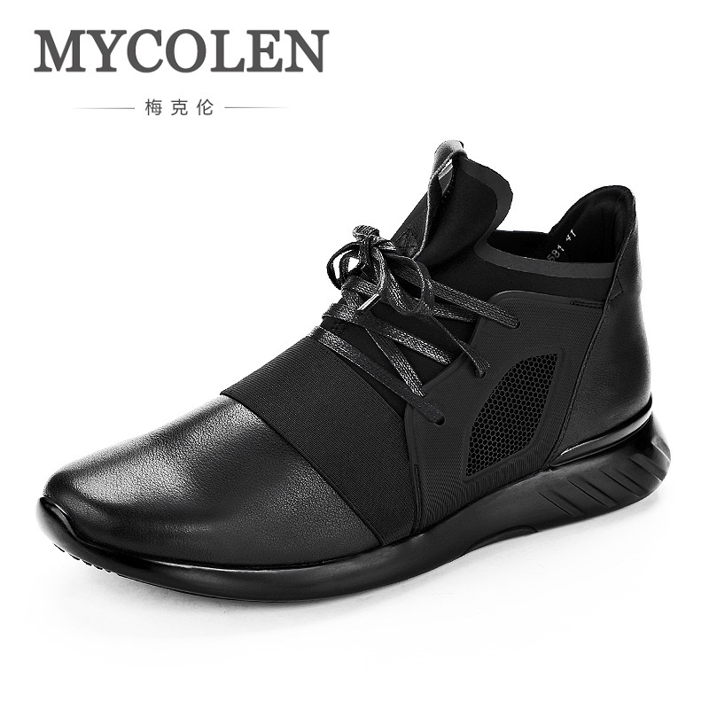 MYCOLEN 2018 New Spring Men Boots Breathable Genuine Leather Shoes Black Outdoor Casual Low Men's Boots Zapatos De Hombres new fashion men luxury brand casual shoes men non slip breathable genuine leather casual shoes ankle boots zapatos hombre 3s88