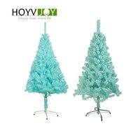 HOYVJOY Mini 150cm New Year Tree Christmas Decorations For Home Party Xmas Encryption Turquoise Blue Pine