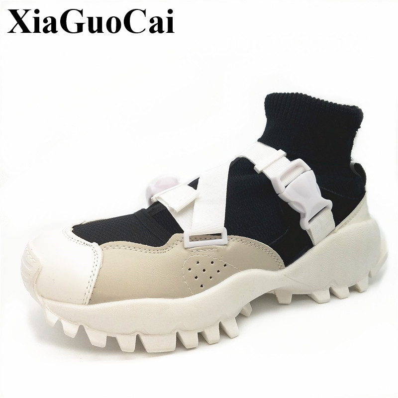 New Fashion Women Shoes Summer Breathable Mesh Elastic Fabric Socks Shoes Non-slip Soft All-match Flats Casual Shoes H33635  summer sandals women leather breathable mesh outdoor super light flats shoes all match casual shoes aa40140