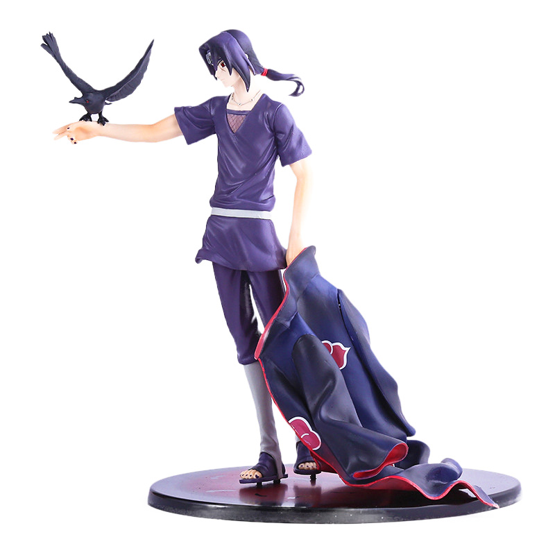20cm Naruto Shippuden Uchiha Itachi PVC Action Figure Collectible Model Toy Doll shfiguarts naruto uchiha itachi moloing and movable pvc action figure collectible model toy 16cm
