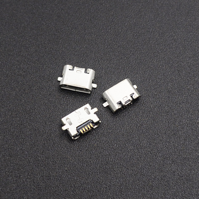 10pcs Micro USB Jack Connector Female 5 Pin Charging Socket For Huawei