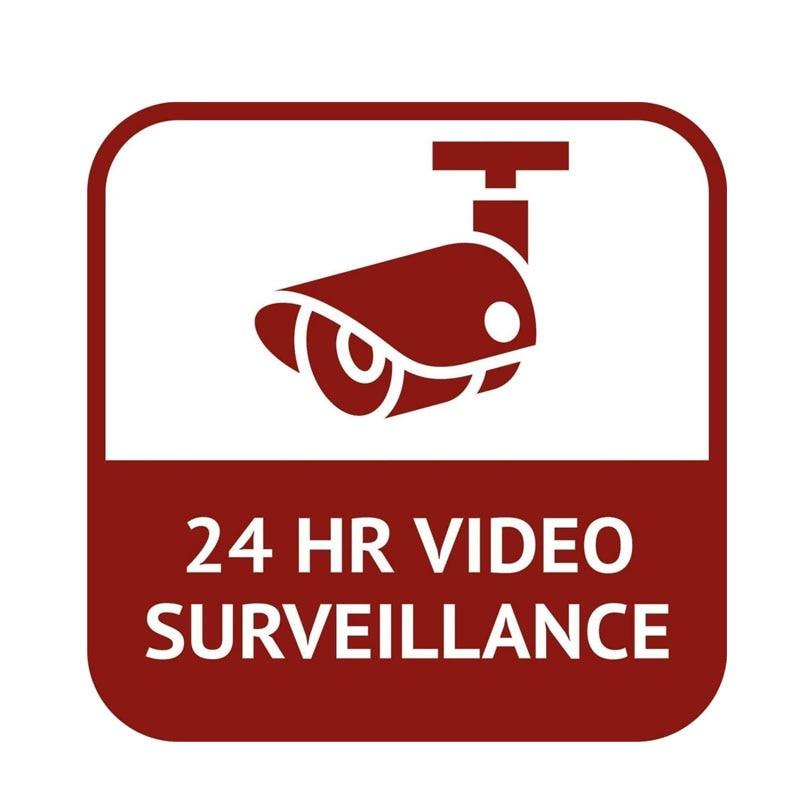 YJZT 15.9CM*15.9CM Personality CCTV 24 Hour Video Surveillance Car Sticker Funny PVC Decal 12-0545