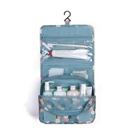 Portable Travel Cosmetic Makeup Storage Bag Folding Wash Case Toiletry Organizer Hanging Bathroom Storage Bags