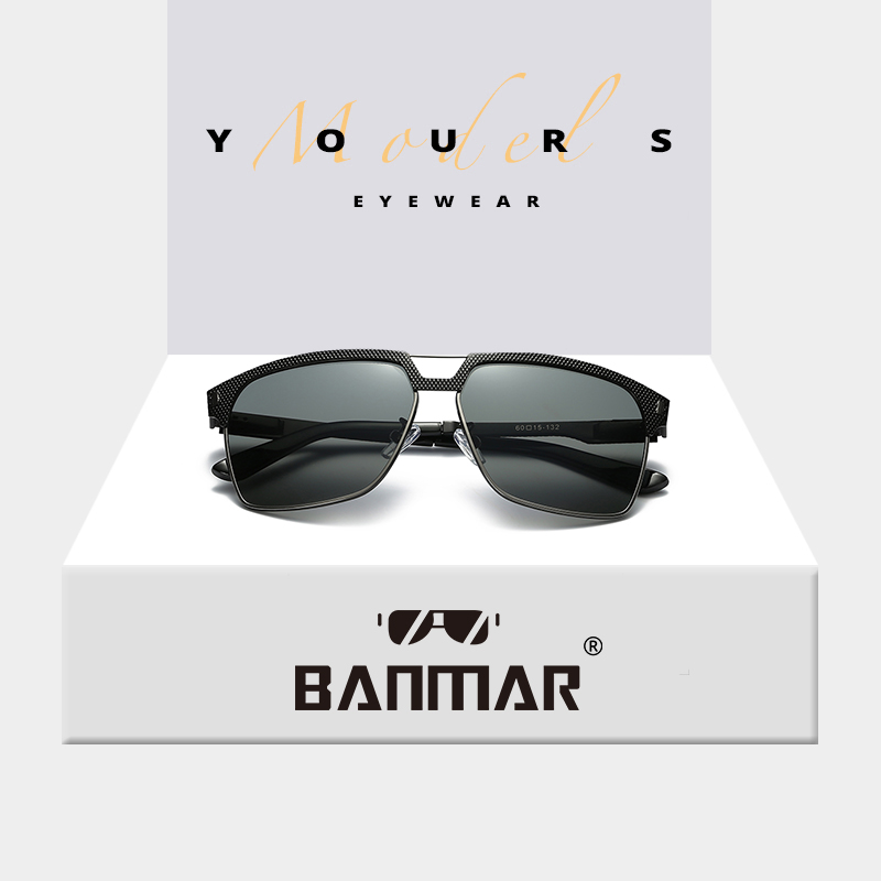 694d957d7b BANMAR New Sunglasses Men Polarized Brand Designer Square Sun ...