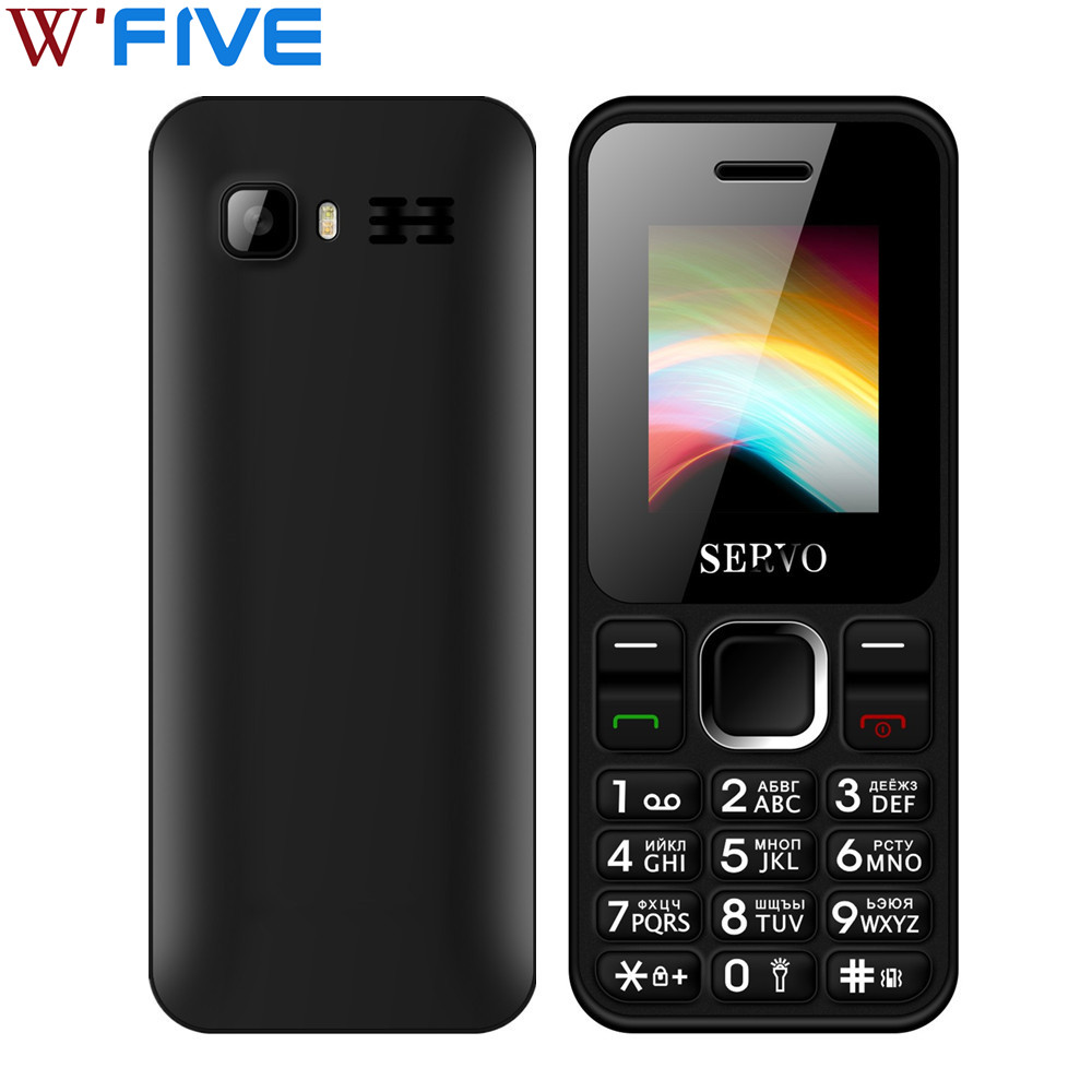 SERVO V8210 Dual SIM Cards Mobile Phone 1.77 Inch GPRS Vibration FM GSM Bluetooth Low Radiation Cellphones With Russian Keyboard