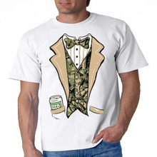 d87748fe Graphic T Shirts Camo Tuxedo T Shirt Beer In My Pocket Mens Tee S-3XL