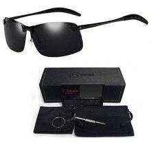 Night Vision Glasses Car Driver Sunglasses Men Aluminium Alloy Night-Vision Goggles Pilot Polarized Sun UV400 Protection