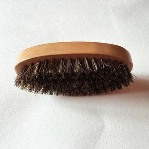 Image 5 - 1PC Men Natural Boar Bristle Beard Mustache Brush Military Wood Handle Comb Newest