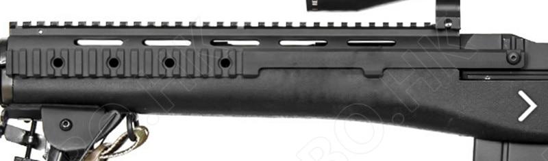 M14 rifle Picatinny tactical rail system Aluminium alloy CNC hunting shooting M1355 ak 47 tactical quad rail picatinny handguard system cnc aluminum full length tactical for ak rifles 26cm hunting gun accessories