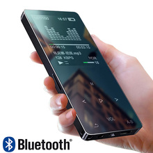 Métal Bluetooth 4.1 nouveau lecteur MP3 haut-parleur intégré avec radio FM/enregistrement E-book Portable mince sans perte son baladeur