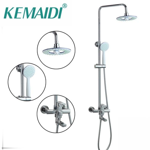 KEMAIDI Double Function New Bathroom Chrome Round 8\