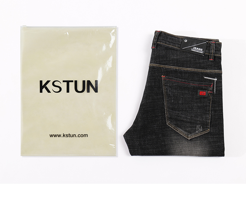KSTUN Men's Jeans 2019 Mens Black Jeans Slim Fit Stretch Autumn Denim Casual Quality Pants Business Trousers for Man Boys Jean Homme 20