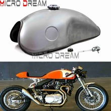 Motorcycle 2.6 Gallon Retro Fuel Tank Unpainted Gas Tank For Yamaha BMW K100RS R1150 R100R Honda CG125S CG250 CB750 Universal 8 gallon 30lsliver coated aluminum racing drifting fuel cell gas tank level sender tk yx9468 30