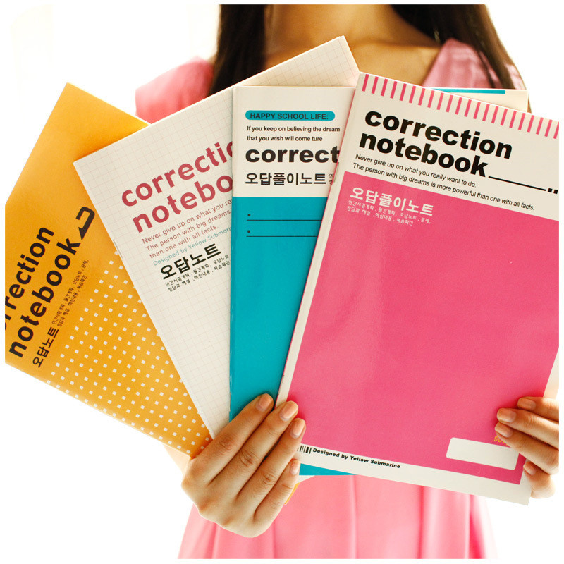 US $4 89 |Korean Creative Error Correction Exam Notebook School Stationery  Store Exercise Diary Note Book Back to School Student Accessory-in
