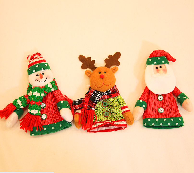 1 pcs Cute Merry Xmas Snowman Christman Bottle Cover Bags Christmas ...