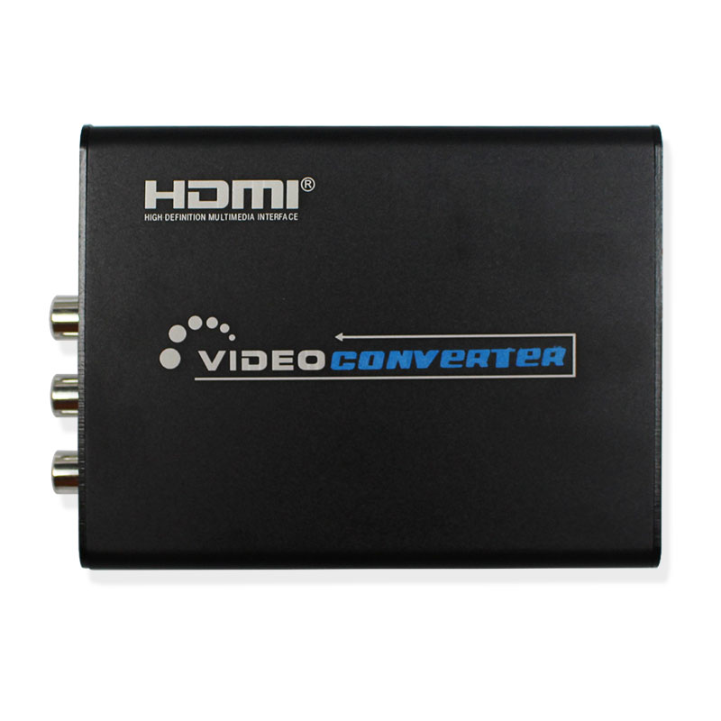 HDMI to 3RCA AV/Composite S-video Converter 1080P HD Video Converter Box High Definition Multimedia Interface for PS3/DVD/Camara