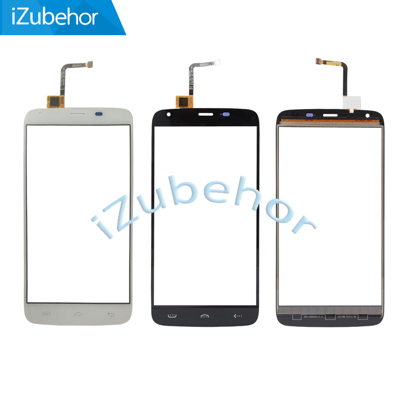 For <font><b>Homtom</b></font> <font><b>HT6</b></font> Touch <font><b>Screen</b></font> Touch Panel Replacement Assemble For <font><b>HT6</b></font> Smartphone Digitizer in Black and White; 100% Warranty image