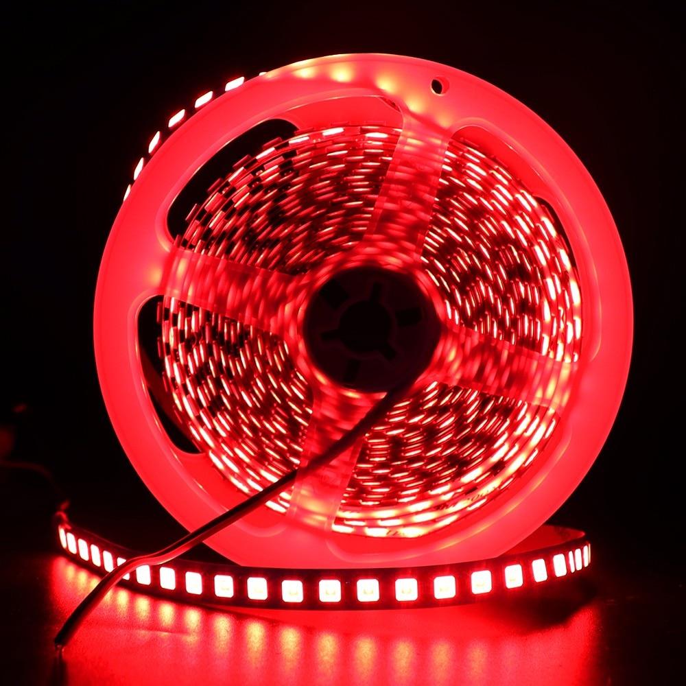 5M Flex LED Strip 5054 5050 SMD 120leds/m Flexible Tape Light DC 12V More Brighter Than 2835 5630 7 Colors for Home Decoration